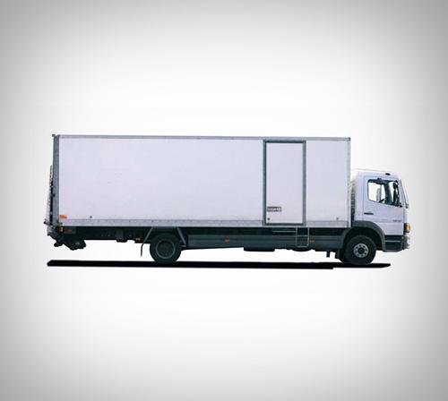 Camion Iveco 45m³ avec hayon