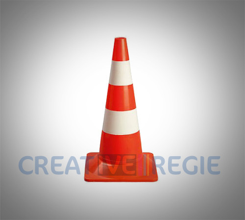 Photo de Petit cônes de signalisation 50cm  (lot de 10)