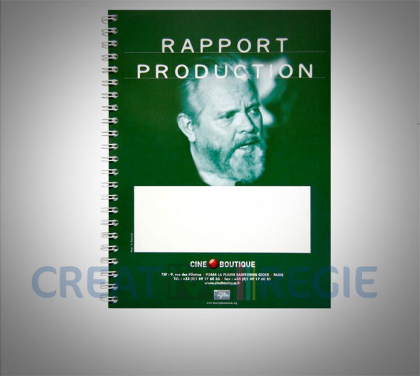 Rapport production 50 pages 2 feuillets blancs