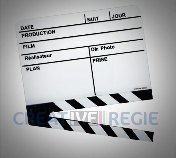 Clap cinéma blanc moyen modèle