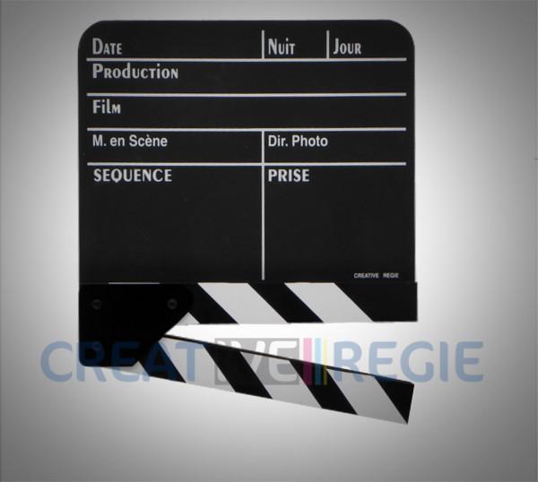 Photo de Clap cinéma noir moyen modèle