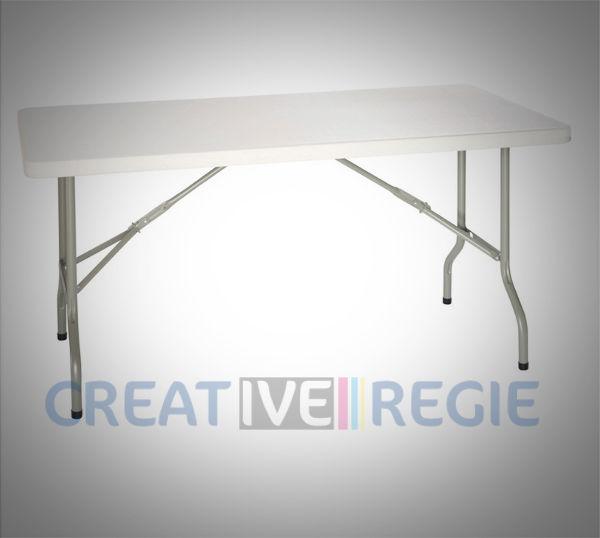 Table pliante de régie en plastique