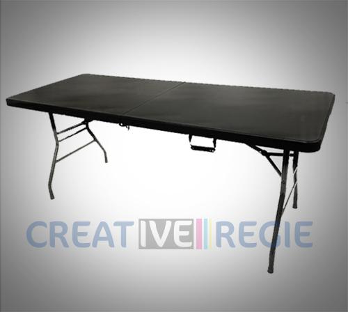Table pliable plastique noire
